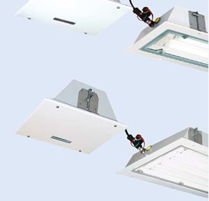 Взрывозащищенные встраиваемые в потолок аварийные светильники eLLB 20? CG-S / eLLB 20? NIB (Зоны 1, 2, 21, 22)