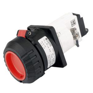 GHG 511 8409 R0001 Розетка фланцевая 4-контактная 200-250 В, 16 А