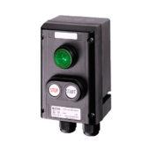 GHG 432 0011 R0002 пост управления. Сигнальная лампа SIL + сдвоенная кнопка DDT (1НР+1НЗ)
