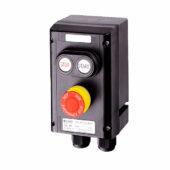 GHG 432 0011 R0003 пост управления. Сдвоенная кнопка DDT (1НР+1НЗ) + кнопка-гриб SGTE (1НР+1НЗ)