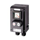GHG 432 0011 R0005 пост управления. Измерительный прибор АМ45 + cдвоенная кнопка DDT (1НР+1НЗ)
