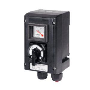 GHG 432 0011 R0008 пост управления. Измерительный прибор АМ45 + выключатель Ex23 трехпозиционный I O II