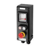 GHG 434 0111 R0002 пост управления. Измерительный прибор АМ72+кнопка-гриб SGT(E) (1НР+1НЗ)+сдвоенная кнопка DDT (1НР+1НЗ)