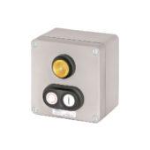 GHG 413 8400 R0002 пост управления. Алюминий. Сигнальная лампа SIL+сдвоенная кнопка DDT (1НР+1НЗ)