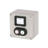 GHG 413 8400 R0004 пост управления. Алюминий. Измерительный прибор АМ45+сдвоенная кнопка DDT (1НР+1НЗ)