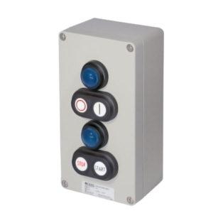 GHG 413 8500 R0002 пост управления. Алюминий. 2 сигнальные лампы SIL+2 сдвоенные кнопки: DDT (1НР+1НЗ)