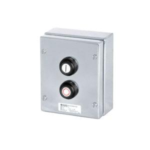 GHG 414 8100 R0001 пост управления. Нержавеющая сталь. Кнопки: DRT (1НР+1НЗ) + DRT (1НР+1НЗ)
