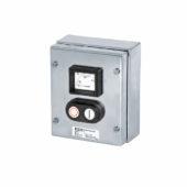 GHG 414 8100 R0004 пост управления. Нержавеющая сталь. Сдвоенная кнопка DDT (1НР+1НЗ)+измерительный прибор АМ45