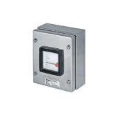 GHG 414 8181 R0002 пост управления. Нержавеющая сталь. Измерительный прибор АМ72 для постоянного тока