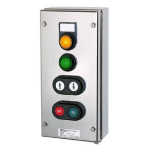 GHG 414 8200 R0002 пост управления. Нержавеющая сталь. 2 сигнальные лампы SIL+2 сдвоенные кнопки DDT (1НР+1НЗ)