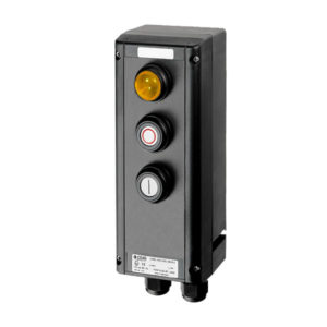 GHG 434 0111 R0001 пост управления. Сигнальная лампа SIL+кнопки: DRT (1НР+1НЗ) + DRT (1НР+1НЗ)