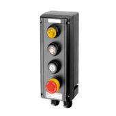GHG 434 1111 R0004 пост управления. Сигнальная лампа SIL+кнопки: DRT (1НР+1НЗ) + DRT (1НР+1НЗ)+кнопка-гриб SGT(E) (1НР+1НЗ)