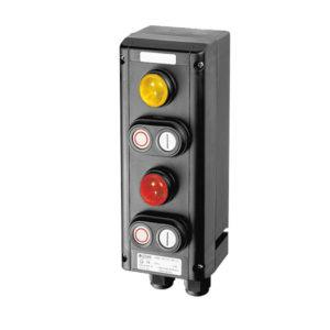 GHG 434 1111 R0005 пост управления. 2 сигнальные лампы SIL+2 сдвоенные кнопки: DDT (1НР+1НЗ)